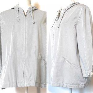 Liz Claiborne striped lightweight jacket, Sz large